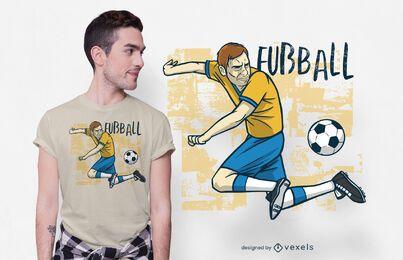 Design de camiseta alemã de futebol