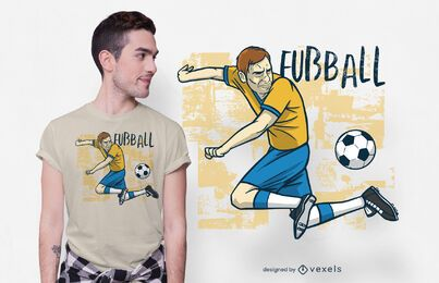 Diseño de camiseta de fútbol alemán