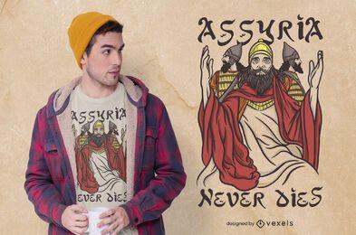 Assíria nunca morre design de t-shirt