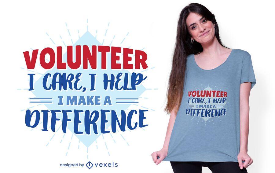 Diseño voluntario de letras t-shit