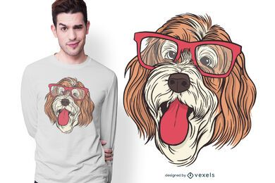 Design de t-shirt do cão de Bernedoodle