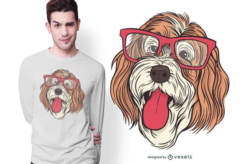 Diseño de camiseta de perro Bernedoodle