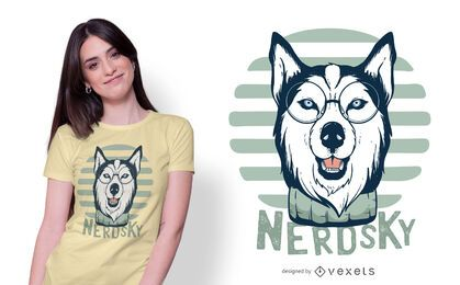Diseño de camiseta Nerdsky