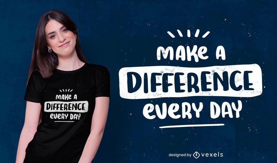 Haz una diferencia en el diseño de la camiseta