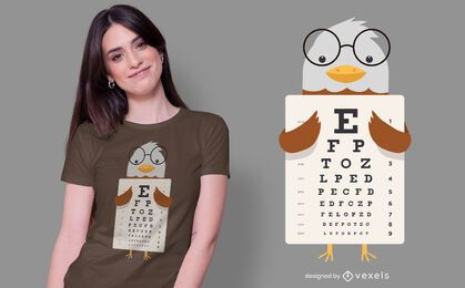 Diseño de camiseta Eagle Eye Chart