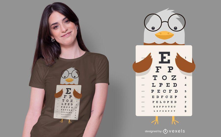 Diseño de camiseta Eagle Eye Chart