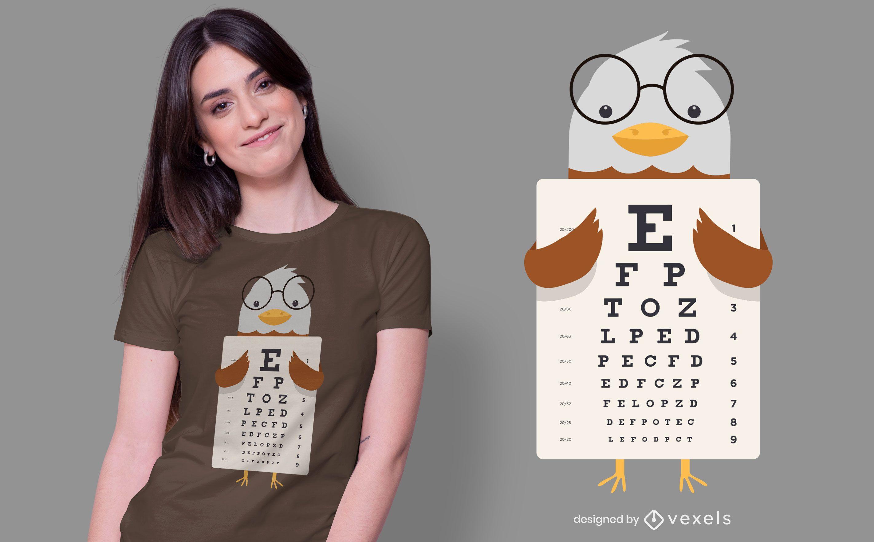 Design de t-shirt Eagle Eye Chart
