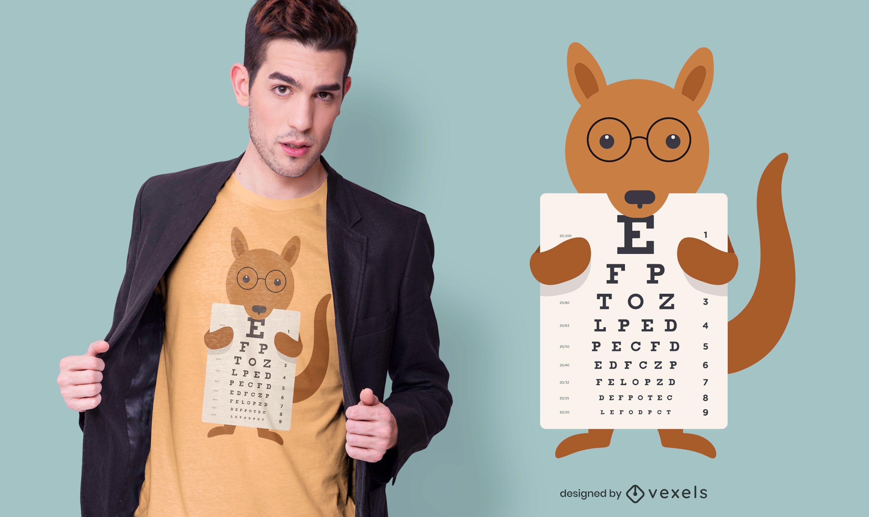 Diseño de camiseta de gráfico visual de canguro.