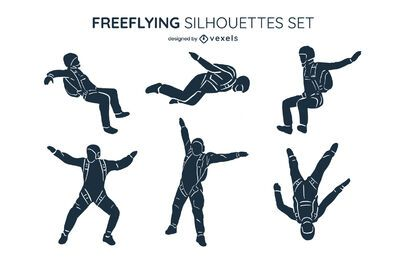 Conjunto de silueta de vuelo libre
