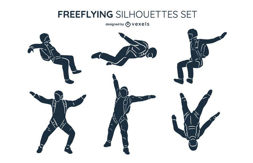 Freeflying silhouette set