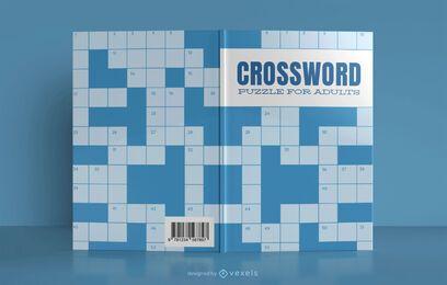 Design de capa de livro de palavras cruzadas