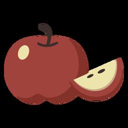 Apfel flache Fruchtscheibe
