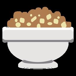 Tigela de cereal plana