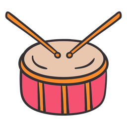 Drum colorful hand drawn