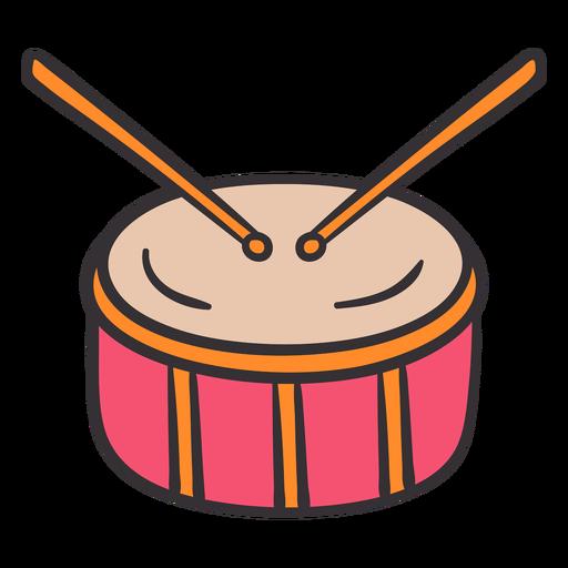 Tambor colorido dibujado a mano