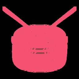 Tambor rosa mão desenhada