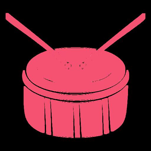 Drum pink hand drawn