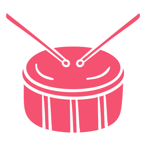 Tambor rosa dibujado a mano