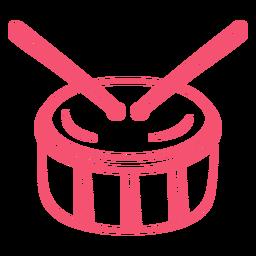 Golpe de tambor dibujado a mano