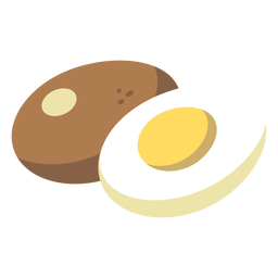 Comida plana de huevo