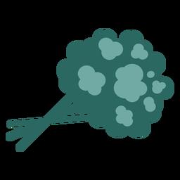 Vegetales de brócoli plano