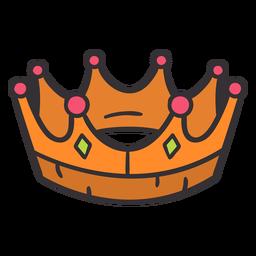 Coroa desenhada de mão colorida