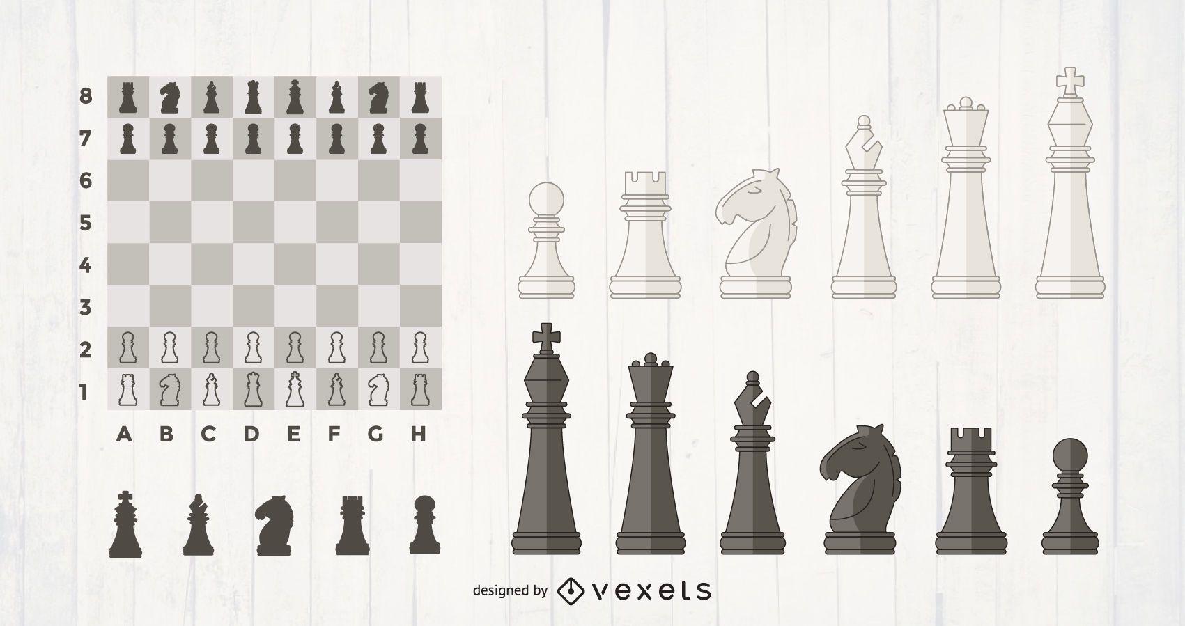 Juego de piezas de ajedrez