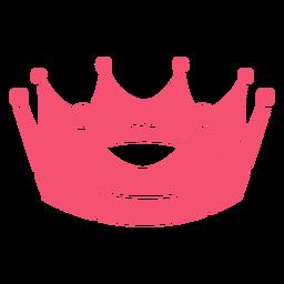Corona dibujada a mano rosa