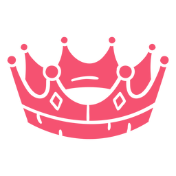Hand drawn crown pink