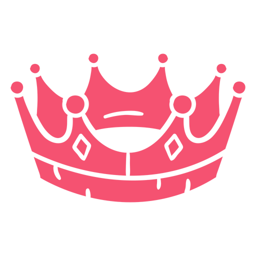 Hand drawn crown pink