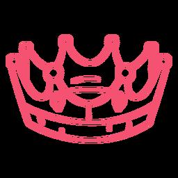 Curso de coroa desenhada de mão