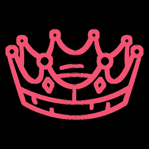 Hand drawn crown stroke