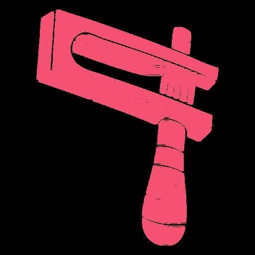 Noisemaker hand drawn pink