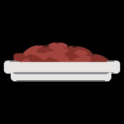 Comida chapada plana