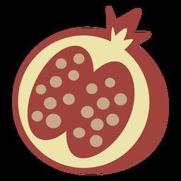 Fruta plana de romã