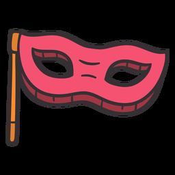 Máscara de Purim colorida