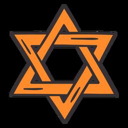 Estrella de Purim colorida