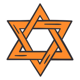 Purim star colorful