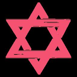 Purim star pink
