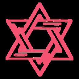 Purim star stroke