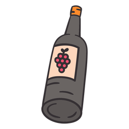 Wein handgezeichnete Flasche