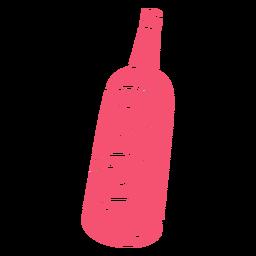Wein handgezeichnete Flasche rosa
