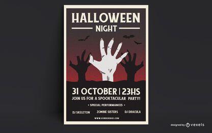 Halloween Nacht Poster Design