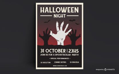 Halloween night poster design