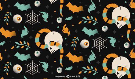 Diseño de patrón de calavera de Halloween
