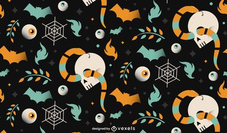 Halloween Schädel Muster Design