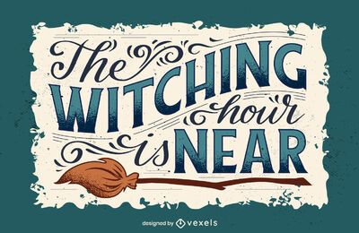 Halloween-Schriftzug der Hexenstunde