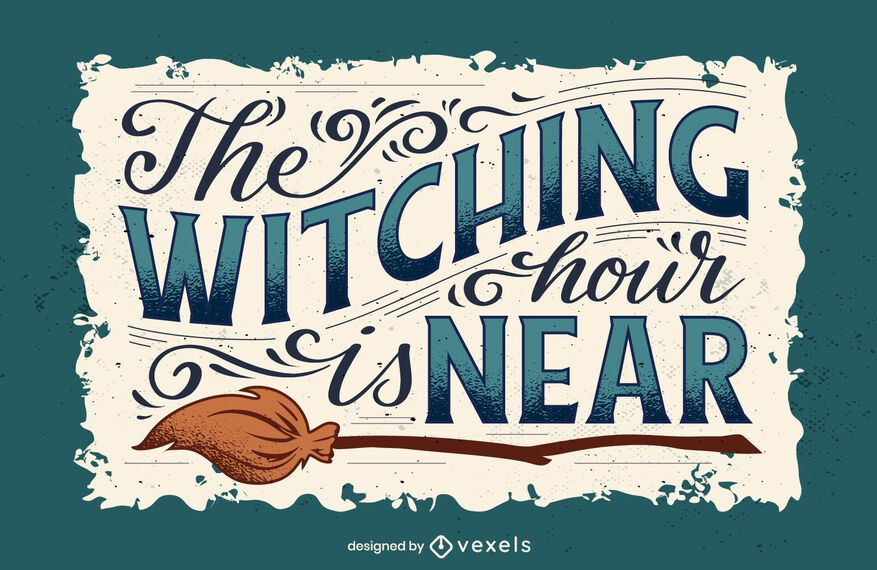 Witching hour halloween lettering
