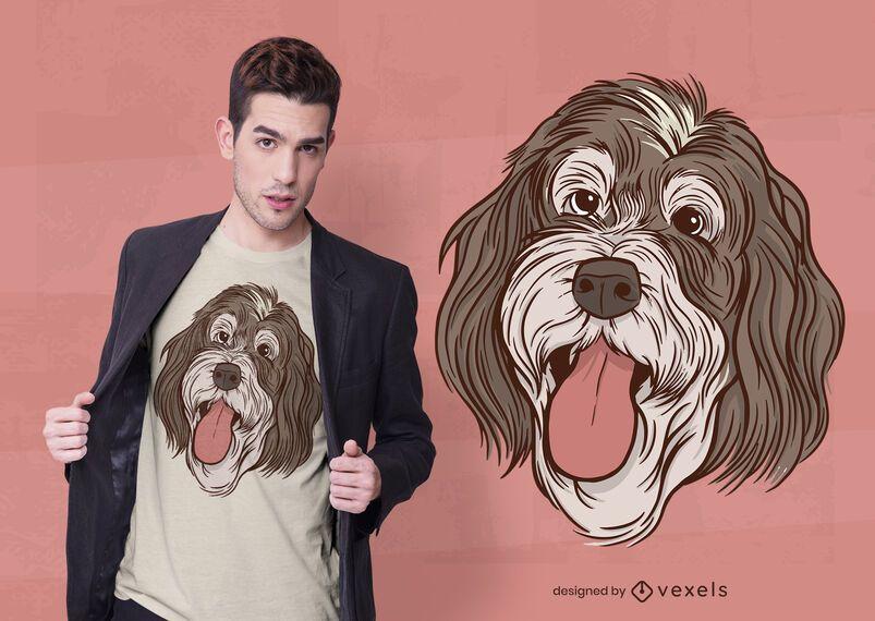 Diseño de camiseta de ilustración de Bernedoodle