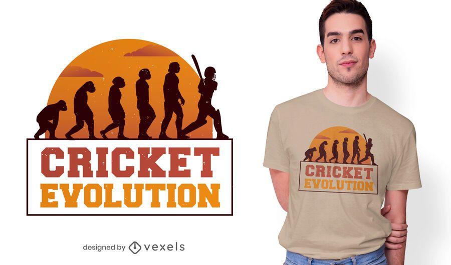 Diseño de camiseta Cricket evolution
